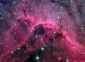 Colored Stars in Space