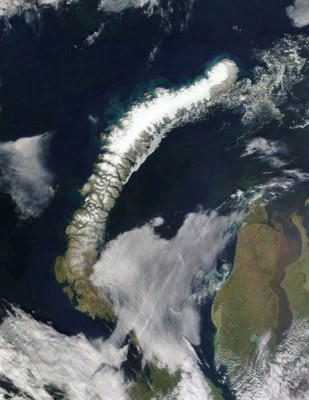 Glaciers Seen from Outer Space