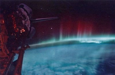 The Northern Lights Viewed from Space