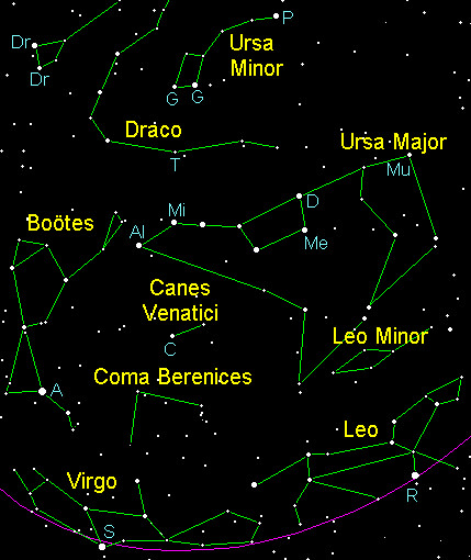 Spring Constellations in the Northern Hemisphere with Star Chart ...