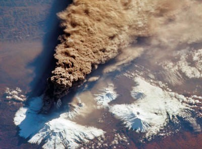 A Volcanic Eruption Seen from Space