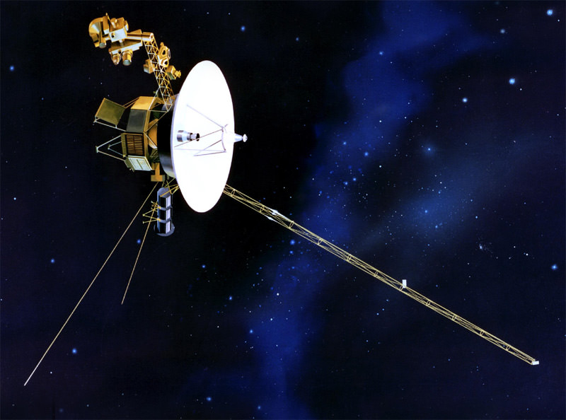 How far away is the voyager spacecraft