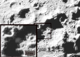 LCROSS Impact Site Showing Debris Plume