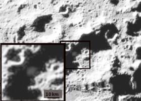LCROSS Impact Site Showing Debris Plume