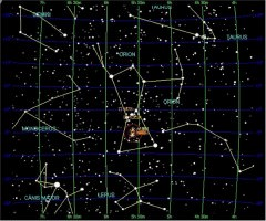 Winter Constellations in the Northern Hemisphere