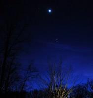 The Moon, Jupiter and Venus on February 26, 2012