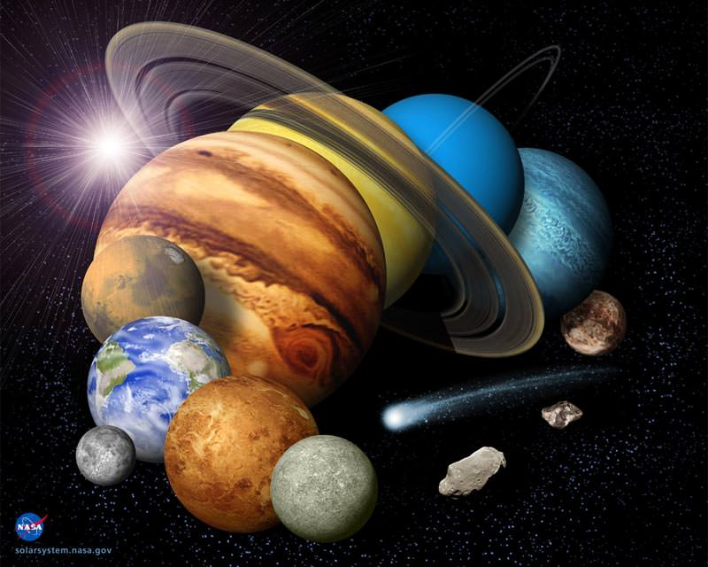 Solar System Colors Of The 9 Planets