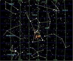 Winter Constellations in the Northern Hemisphere