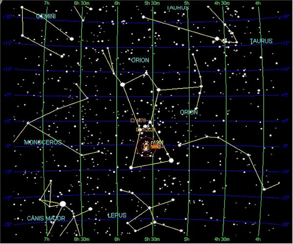 Winter Constellations In The Northern Hemisphere Outer Space Universe - Night sky map northern hemisphere